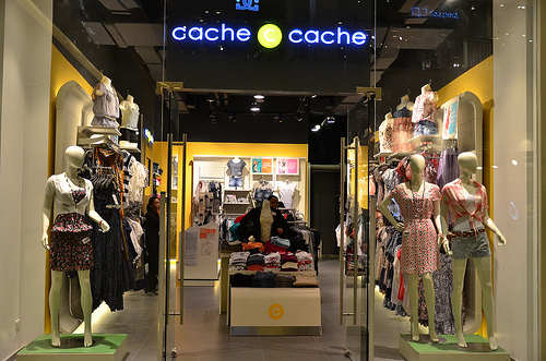 Cache clothes store website